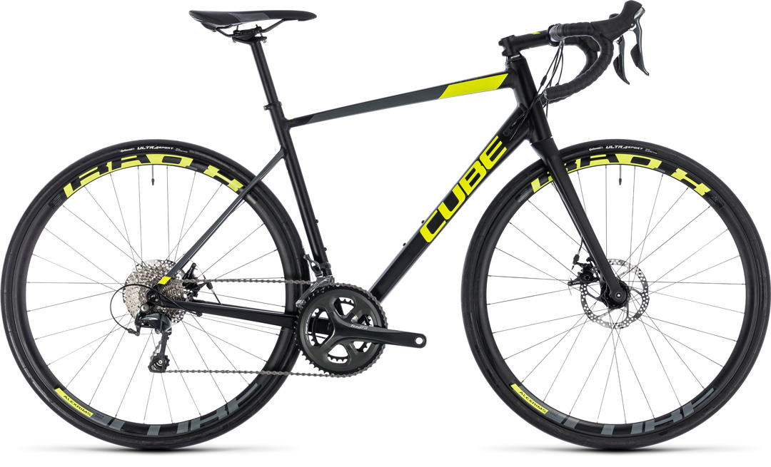 cube attain race disc blacknflashyellow 2018